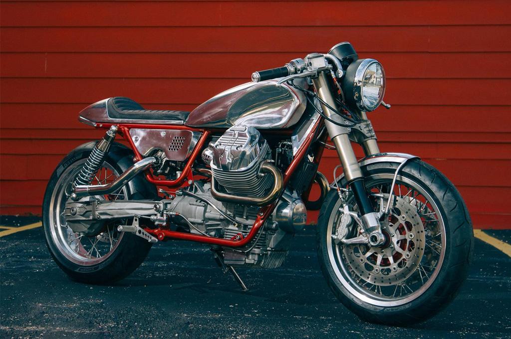 Una perfecta Moto Guzzi V9 Roamer turbo